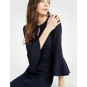 Ann Taylor Flare Sleeve Sheath Dress